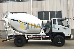 Concrete Transit Mixer on Truck
