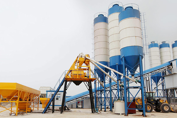 HZS50 Concrete Batching Plant in Bangladesh
