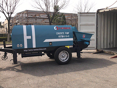 Hamac HBT40 electric concrete pump delivering to Africa this April 2019