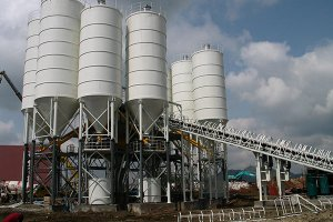 HZS90 concrete batching plant in Ethiopia