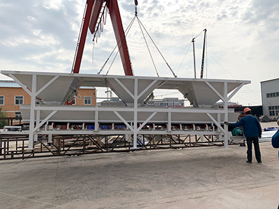 Hamac 35m3 concrete batching plant delivering to the African customer