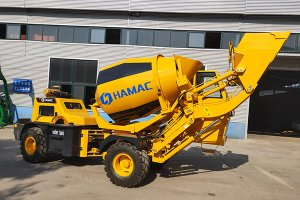 HMC150 Self-loading mobile Concrete Mixer in UAE